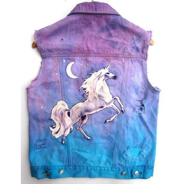 pastel goth unicorn vest ❤ liked on Polyvore featuring outerwear, vests, gothic vest, vest waistcoat, purple vest and goth vest