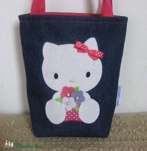Meska - Uzsonnás kis táska - Hello Kitty-s eszterszemek kézművestől
