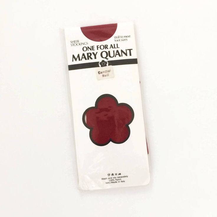 Mary Quant - Red Vintage Stockings - NOS Unused  - 1980s Nylons - Vintage Lingerie - Hosiery by hurdyburdy on Etsy