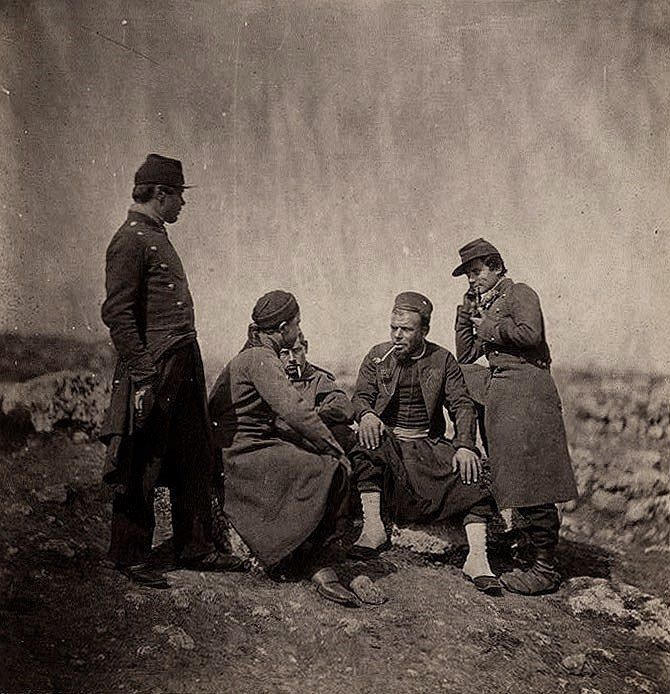 Zouaves (light infantry regiments of the French Army), Crimean war 1854