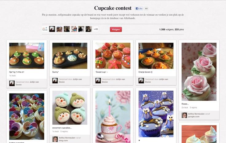 Cupcake contest | Allerhande | Albert Heijn (AH) #NL | Pin je mooiste, zelfgemaakte cupcake op dit board en wie weet wordt jouw recept wel verkozen tot de winnaar
