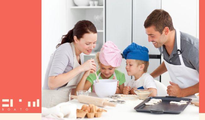 ¿Ustedes dejan que los niños ayuden en la cocina?