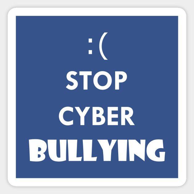 Stop Cyber Bullying #sticker #cyber #bully #bullying