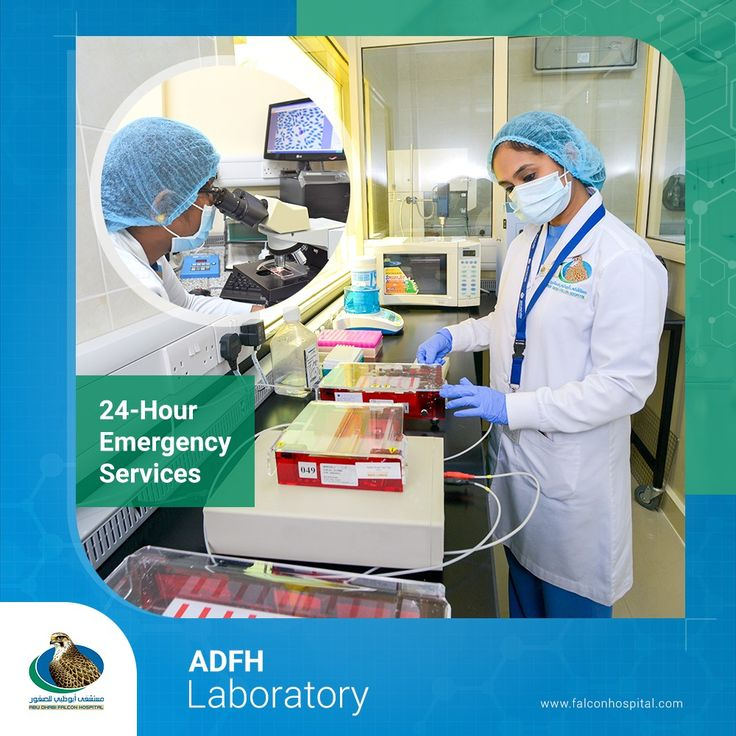 The ADFH lab provides 24hour emergency lab services for
