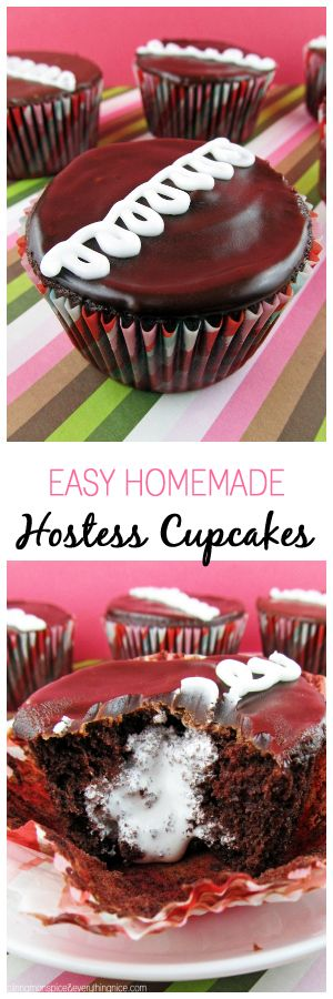 Easy Homemade Hostess Cupcakes