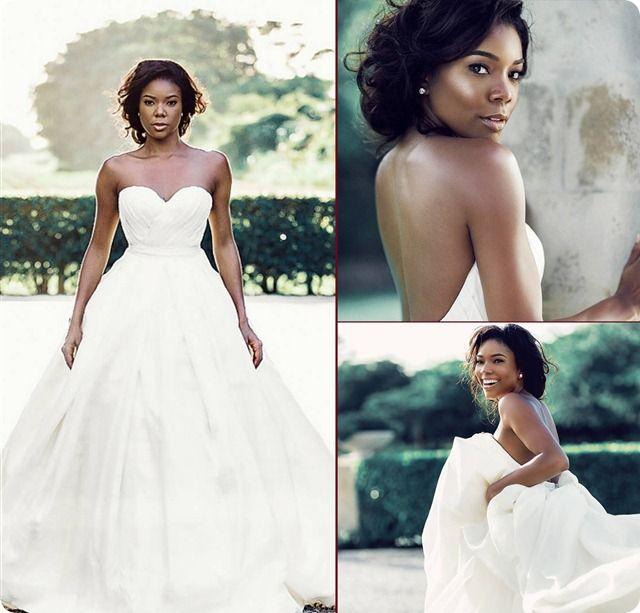 Gabrielle And Dwayne S Wedding Celebrity News Pinterest Dresses Bridal