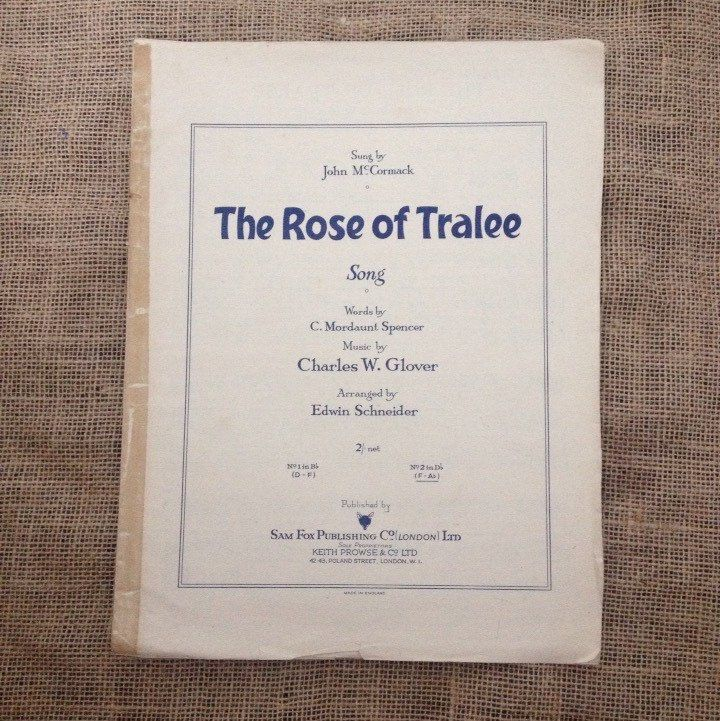 A personal favorite from my Etsy shop https://www.etsy.com/listing/237939227/vintage-sheet-music-the-rose-of-tralee