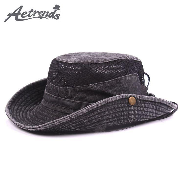 2017 New Summer Mesh Caps Bucket Hats for Men Sun Hat Z-5319