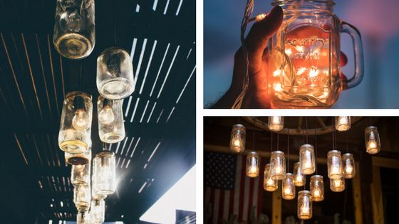 12 Magical Mason jars with lights inside