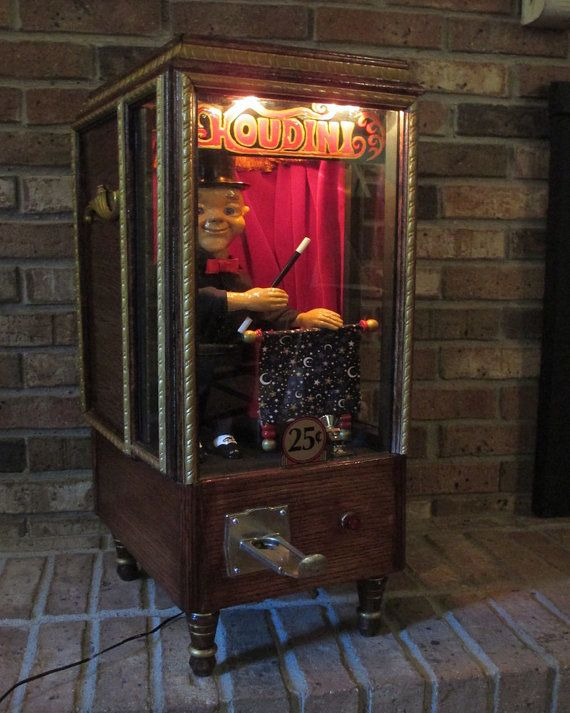 Mechanical Houdini Animated Coin-Operated by StarliteAmusements : Theatre/Entertainment/Game ...