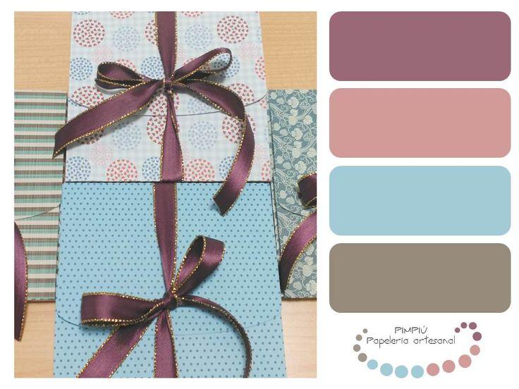 Nueva #gamadecolores esta vez de nuestras #cajasderegalo ideales para guardar #foto , #mensajes o algún #detallito  #paletadecolores #palette #colores  www.pimpiu.com