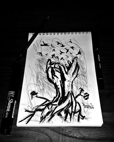 Sketch in 2 minutes... Facebook: https://m.facebook.com/Art.Graph.MJ