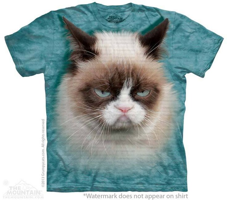 Grumpy Cat T-Shirt - Click image to see hundreds of different animal t-shirts #themountaintees