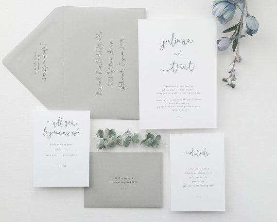 PAPER SAMPLES Juliana Simple Wedding by augustandwhitedesign