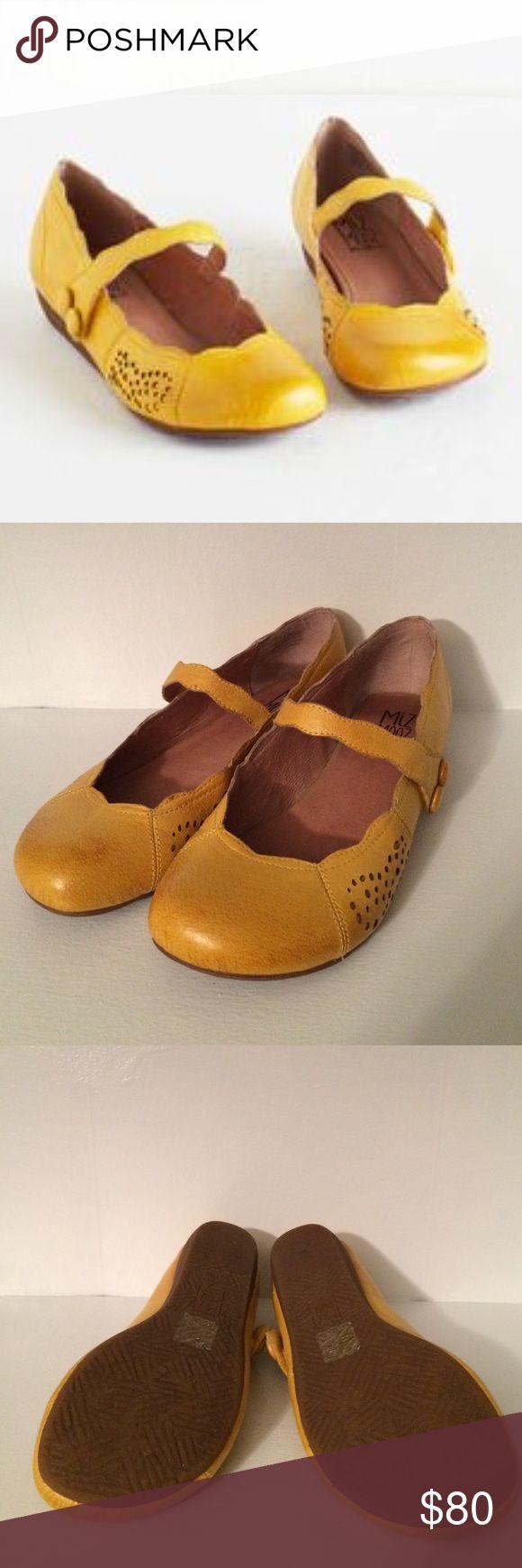 Miz Mooz Yellow Flats Wonderfully comfortable with velcro closure. Worn twice. Euro size 38.5. Shoes