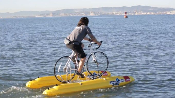 Water biking is possible with Baycycle Project