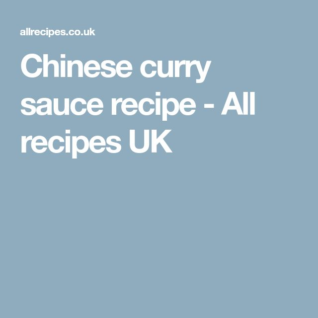 Chinese curry sauce recipe - All recipes UK