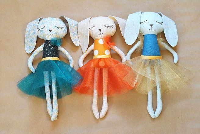 Игрушки и пледы для детей | Yulia Decor  | Сонный заяц | Softie toy bunny