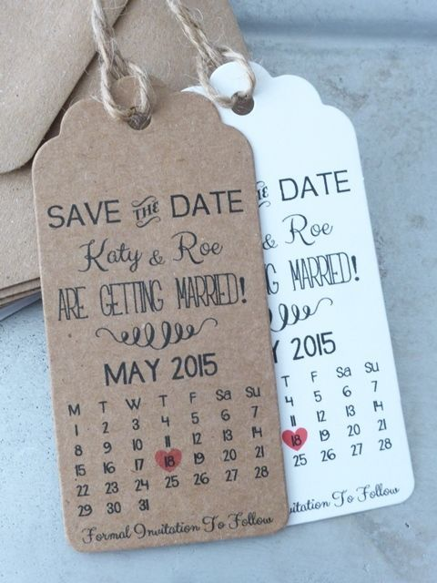 Save The Date / Evening Card Wedding Invitation with Envelope Personalised  #GreenFoxy