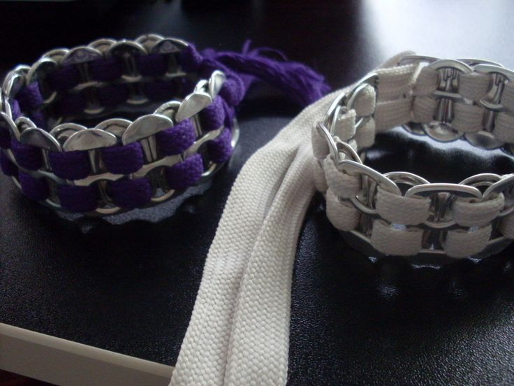 Can Tab And Shoelace Bracelet  •  Free tutorial with pictures on how to make a pop tab bracelet in under 15 minutes