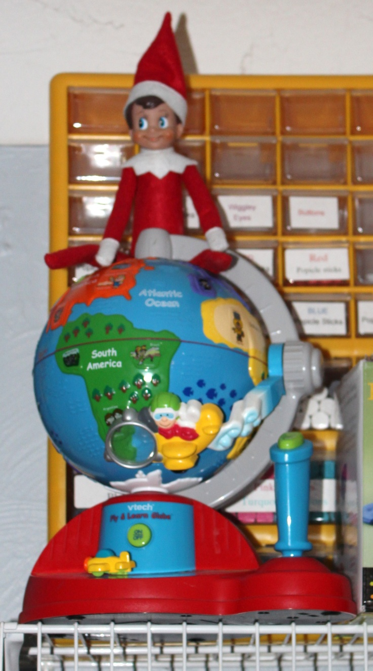 Cuddles our little elf is sitting on top of the world... Literally... :)