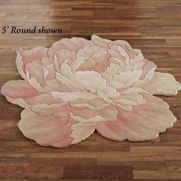 Juliette Round Peony Flower Shaped Rugs