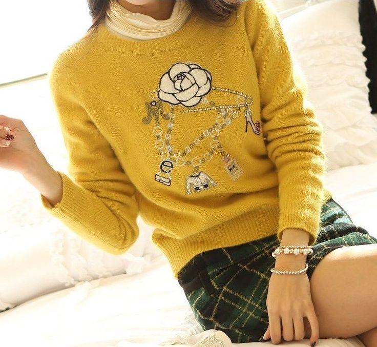 StyleOnMe_Women's Lovely Knit Sweater_Mustard_Free Shipping_Made in Korea #StyleOnMe #BoatNeck #BlackFriday www.styleonme.com www.facebook.com/StyleonmeEn