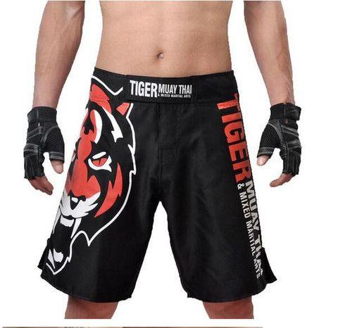 Tiger Print MMA Shorts