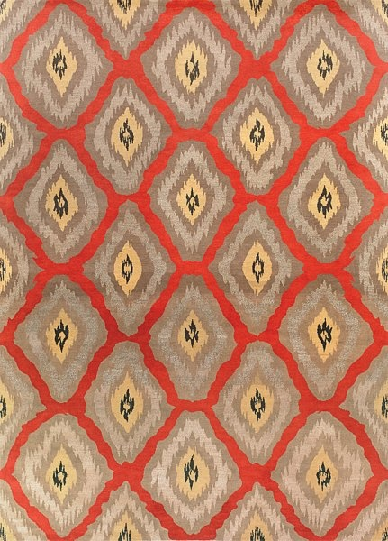 New Moon Rug Lw59b Red Gold This Eclectic Ikat