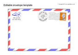 Editable envelope templates (SB9204) - SparkleBox