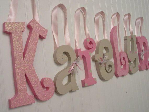 colgante letras de vivero vivero cartas cartas de infantiles beb nia rosa u