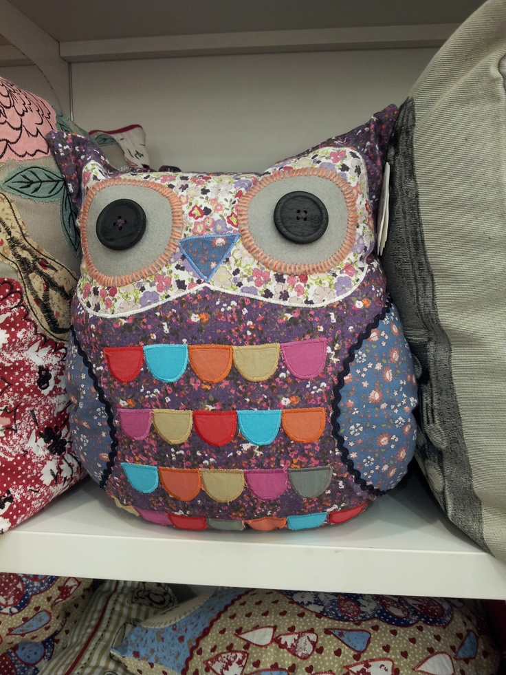 I love this owl cushion.  For sale in BHS in Cardiff Bay