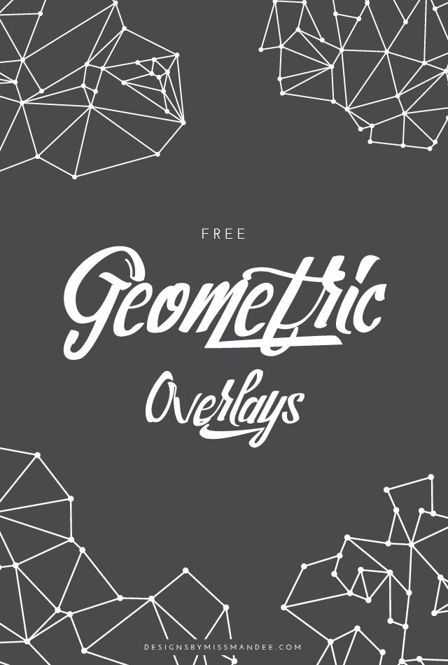 Give your design or photo a sleek, cool, and modern feel with these free geometric overlays. Four linear line and dot motifs for your design pleasure.