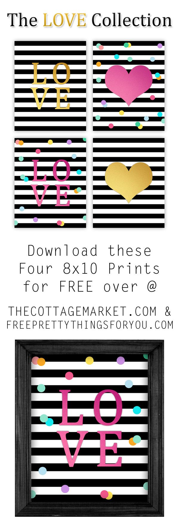 Free Printable Wall Art {Love Collection} - The Cottage Market