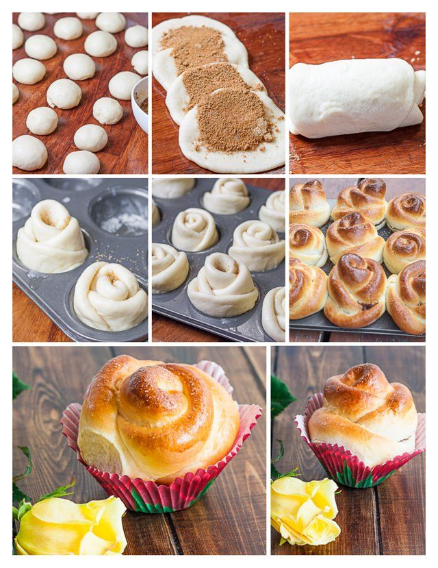 Cinnamon Roses - These delicious cinnamon rolls are shaped like roses making them not only yummy but gorgeous and impressive as well.