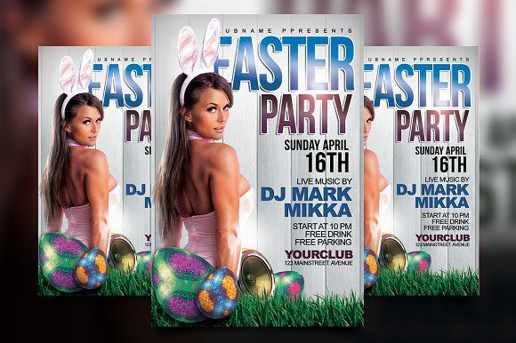 Easter Party Flyer by Gayuma on @creativemarket