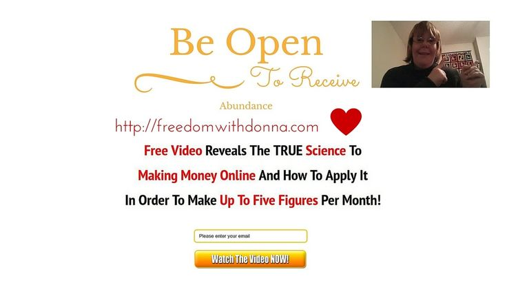 Day 50 Be Open To Receive Abundance  Today I covered how you should be open to receiving Abundance in your business and life. As well be willing to give the gift of Abundance to others.  http://freedomwithdonna.com