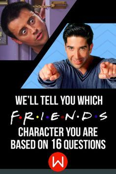 Take this quiz and we will tell you what friends character you are! Are you goofy like Joey or more serious like Ross? Friends Quiz, Friend personality quiz, Ross, Rachel, Phoebe, Monica, Joey, Chandler. Jennifer Aniston, Courteney Cox, Lisa Kudrow, Matt LeBlanc, Matthew Perry and David Schwimmer.