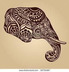 Indische stijl  Dit is een voorbeeld van de mandaal achtige tekeningen waarbij men veel versieringen en 'gebogen' lijnen gebruikt. Om het sierlijk te maken. Er wordt ook veel gebruik gemaakt van dieren in deze stijl