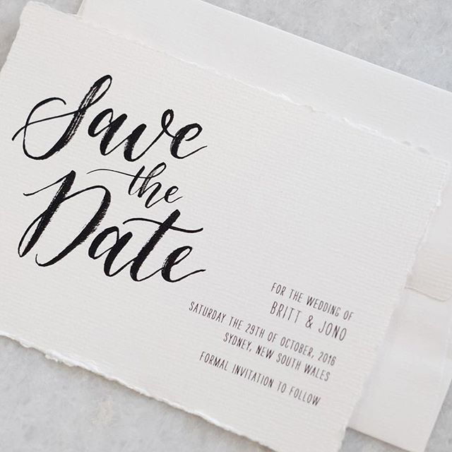 Save the date for a gorgeous couple ✨ hand calligraphy and handmade bohemian card
