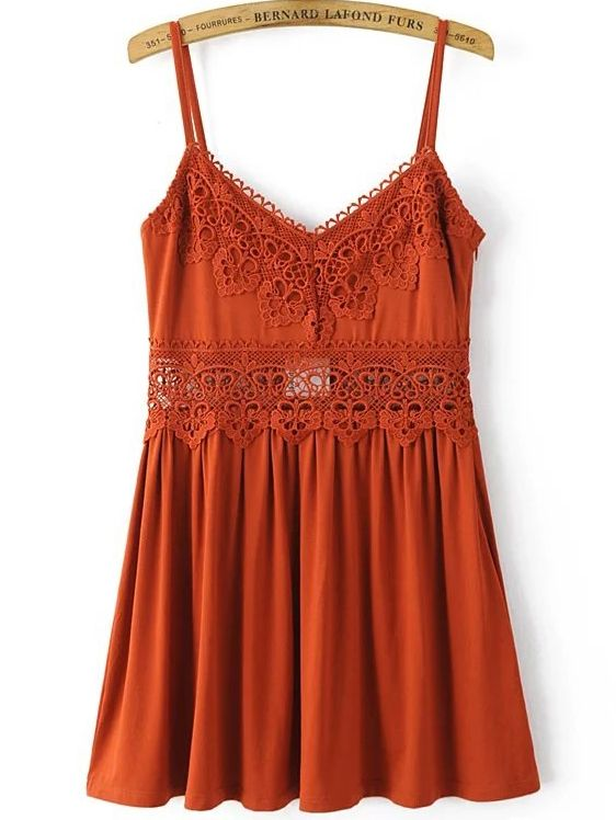 Shop Cami Straps Lace Crochet Pleated Dress online. SheIn offers Cami Straps Lace Crochet Pleated Dress & more to fit your fashionable needs.