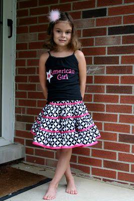 My*Sweet*Sunshine: Ribbon Trimmed Tiered twirl skirt.