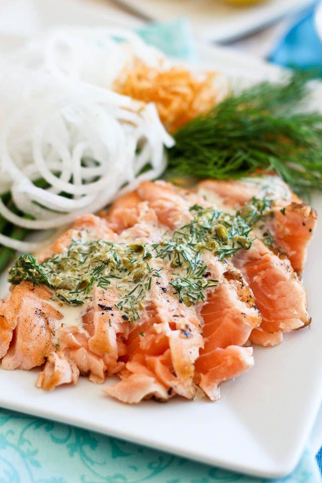 Salmon Tataki and Creamy Lemon Dill Sauce