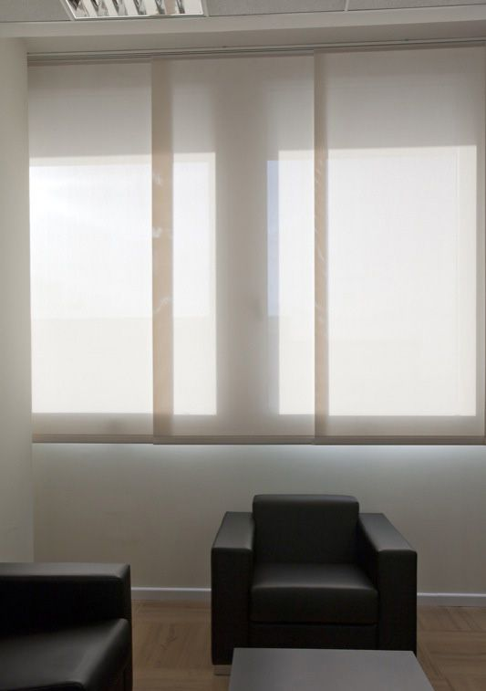 Panel track blinds also known as sliding window panels or for Panel tracks for patio doors