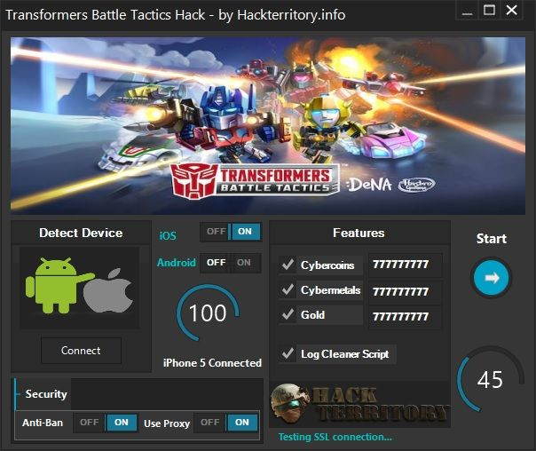 Transformers Battle Tactics Hack is a great hack that can generate unlimited Cybercoins, Cybermetals, Gold and more.