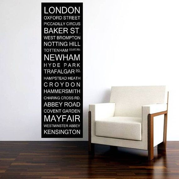 London Bus Scroll Subway Sign Bus Blind Banner Roll by wordology, $199.00