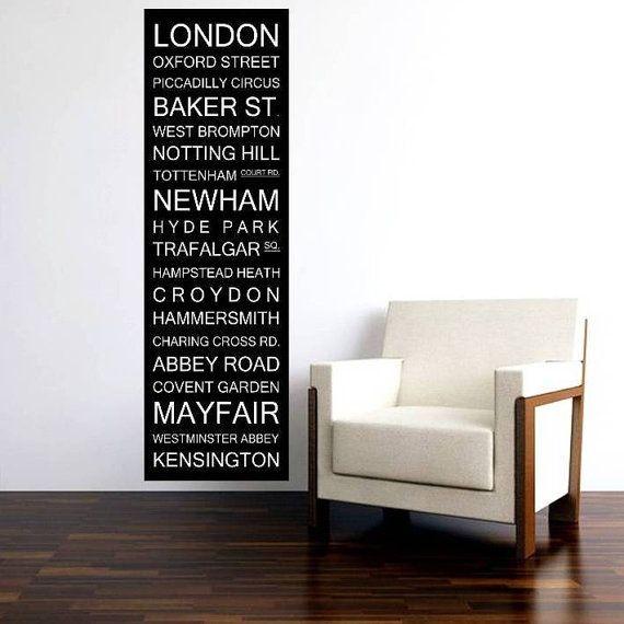 London Bus Scroll, UK Subway Sign, Bus Blind, British Banner Roll, Tram Scroll Vintage Style Destination Art Canvas