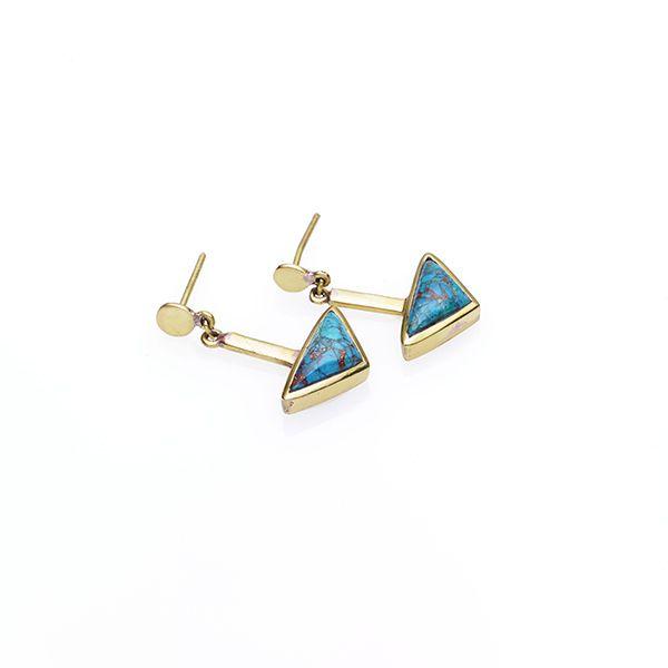 PUSHMATAaHA // Kai Earrings / Chrysocolla with Gold Plate