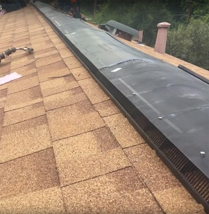 Gaf Ridge Vent Ridge Vent Ridge Vents Types Of Roof Vents