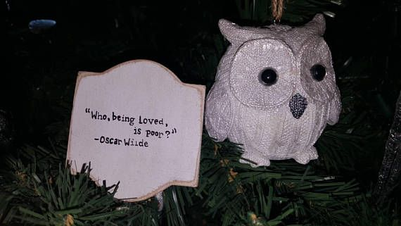 Check out this item in my Etsy shop https://www.etsy.com/ca/listing/559986608/hand-painted-oscar-wild-quote-christmas